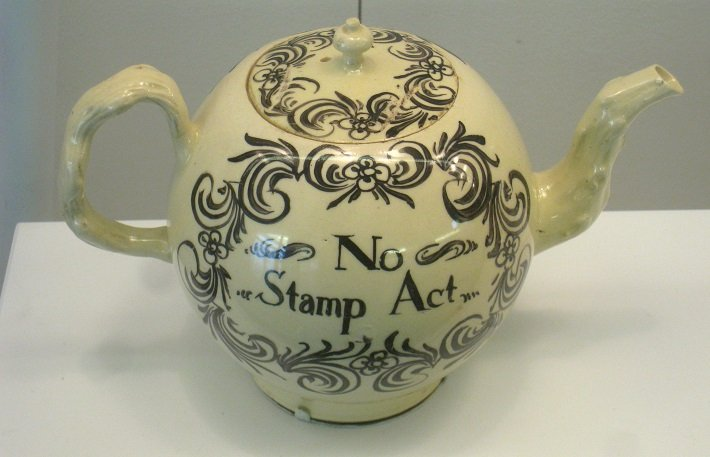 No Stamp Act Derby creamware teapot
