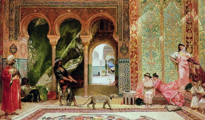 A Royal Palace in Morocco by Jean-Joseph Benjamin-Constant