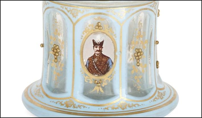 A Bohemian glass huqqa for the Persian market