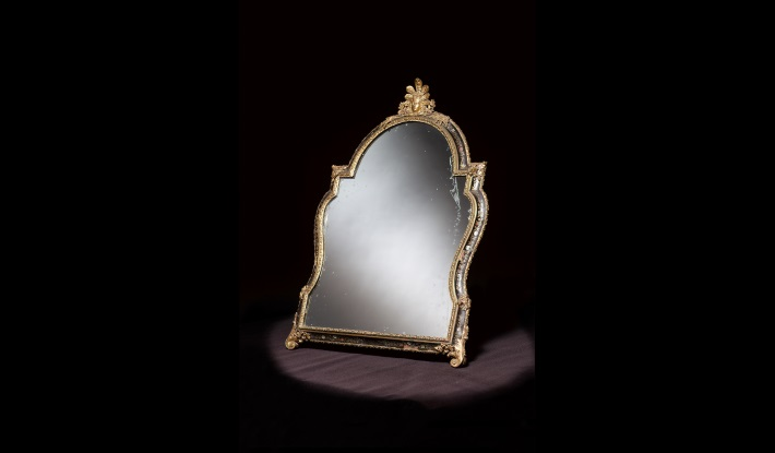 Regence period Boulle toilet mirror