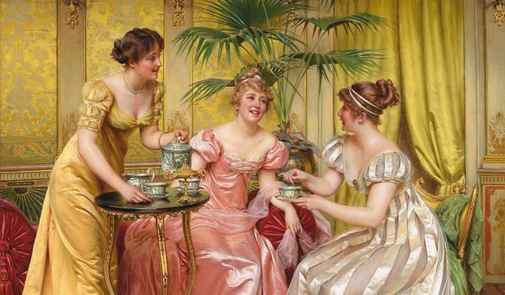'Afternoon Tea for Three' by Charles-Joseph-Frederic Soulacroix