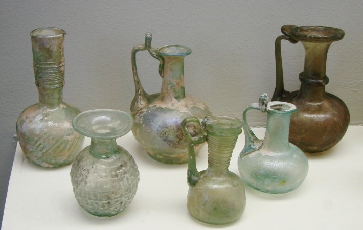 Collection of Roman glassware, 2nd Century AD