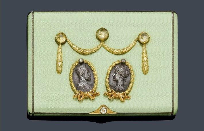 Faberge style cigarette case