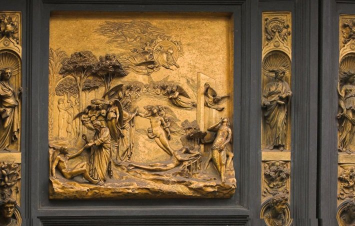A panel from Ghiberti's Gates of Paradise