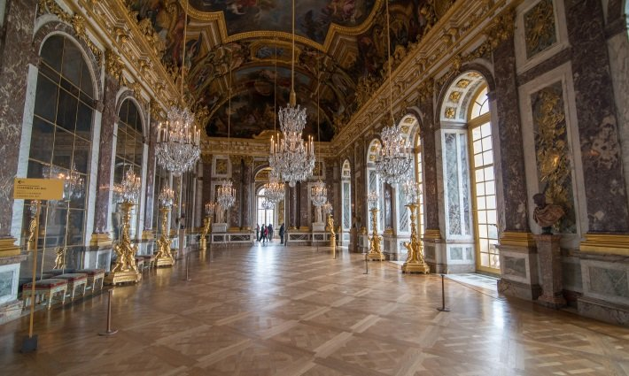 Hall of Mirrors at the Palace of Versailles