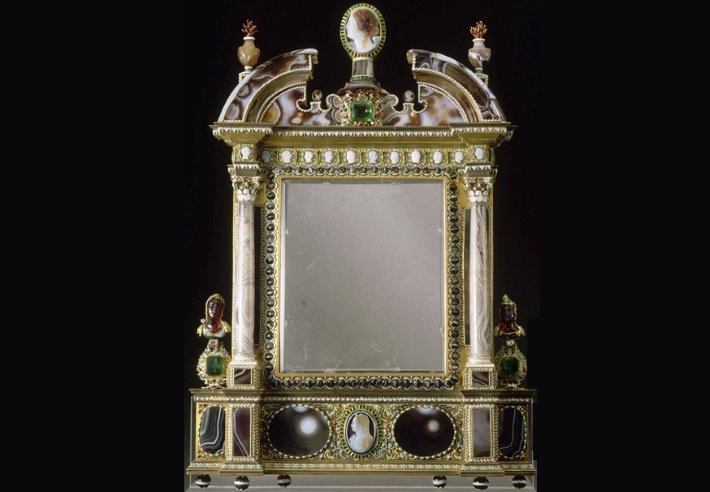 Louis XIV Rock Crystal mirror, Louvre Museum Paris