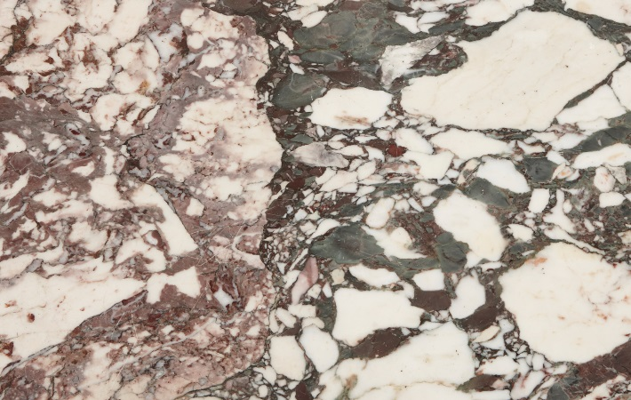 Detail of marble top from antique furniture