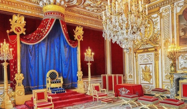 Napoleon I's throne room at Fontainebleu