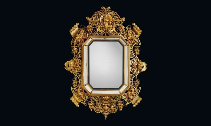 Barbedienne and Carrier-Belleuse Napoleon III period mirror
