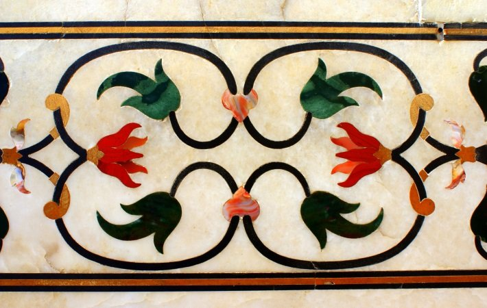 Pietra dura work on the Taj Mahal