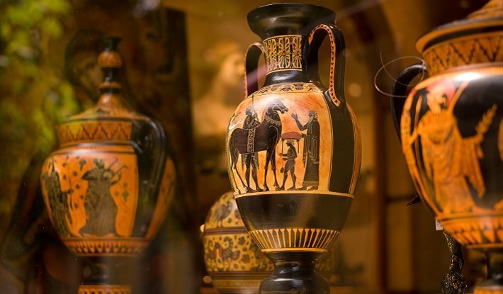 Greek antique vases