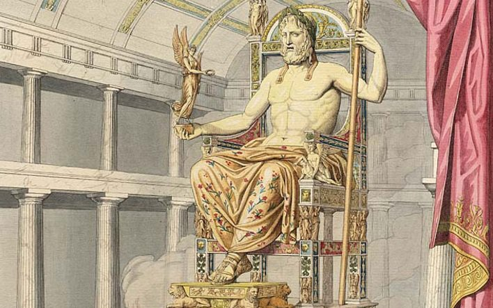 zeus at olympia by quatremere de quincy